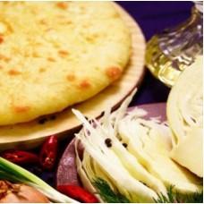 Пирог с капустой,грецким орехом и жаренным луком