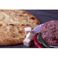 Пирог с мясом ,грибами и сыром