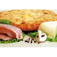 Пирог с курицей,сыром и грибами