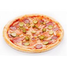 Пицца салями с халапеньо